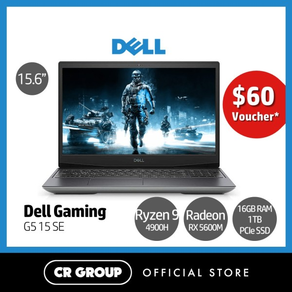 [Same Day Delivery] Dell G5 15 SE 15.6 Inch Full HD 144Hz Refresh Rate Gaming Laptop   AMD Ryzen 9-4900H   16GB DDR4 RAM   1TB PCIe SSD   AMD Radeon RX 5600M 6GB GDDR6