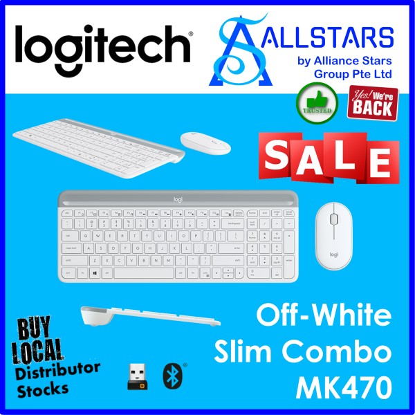 (ALLSTARS : We are Back / Keyboard Mouse Promo) LOGITECH MK470 Wireless Slim Combo (920-009182) Warranty 1year with BanLeong Singapore
