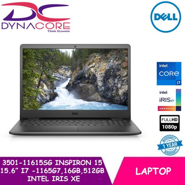 【Pre-order】DYNACORE - DELL 3501-11615SG INSPIRON 15 3000 BLACK (i7 -1165G7 | 16GB | 512GB | INTEL IRIS Xe | 15.6FHD | WIN10)