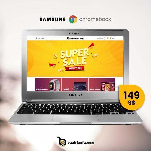 Samsung Chromebook XE303C12-A01US, Exynos 5 Dual Processor, 2GB RAM, 16GB SSD, 11.6 Inch Screen, OS Google Chrome-