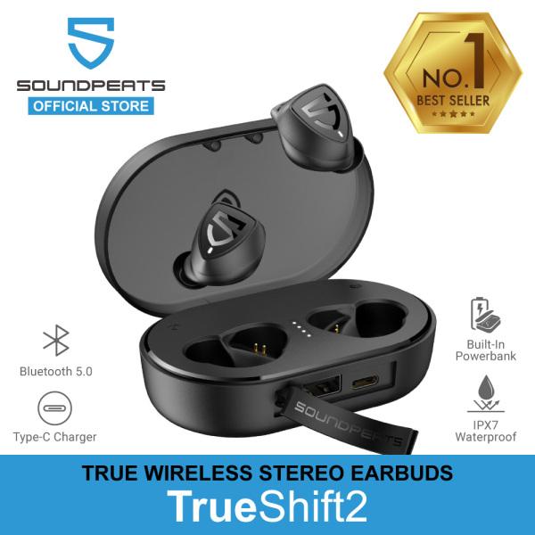 SoundPEATS TrueShift2 IPX7 True Wireless Earbuds With Powerbank Built-in, 100 Hrs Music & Bluetooth 5.0 Singapore