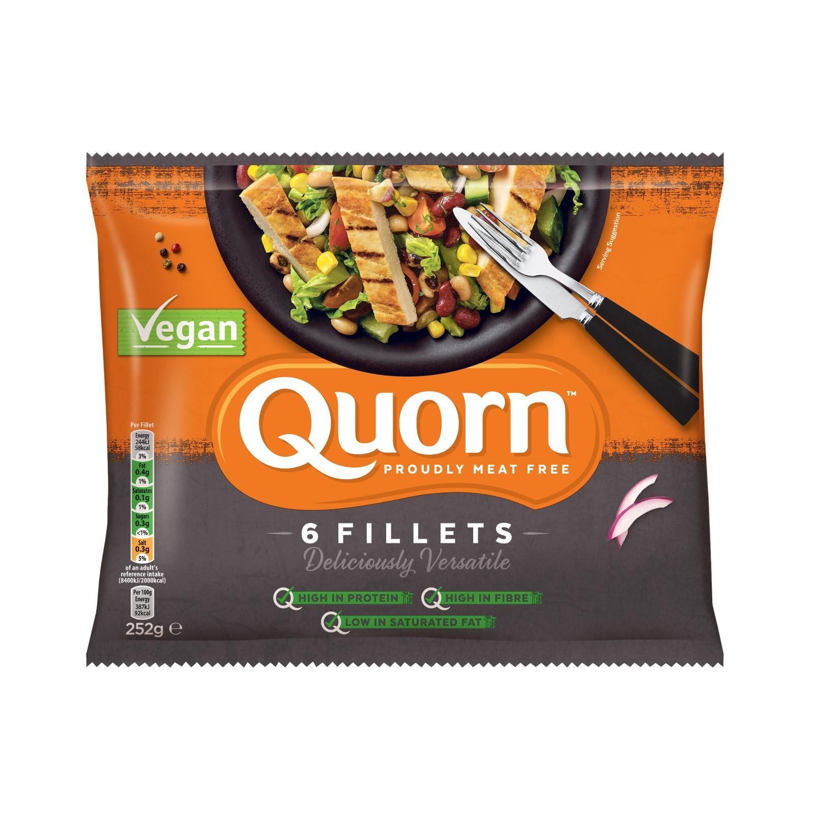 Quorn Vegan Fillets - Frozen By Redmart.