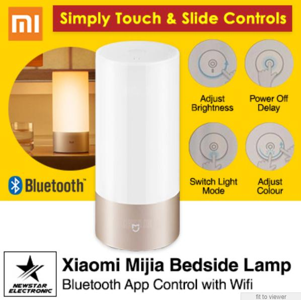 Xiaomi Mijia Bedside Lamp Bluetooth App Control WiFi Connection (EXPORT)