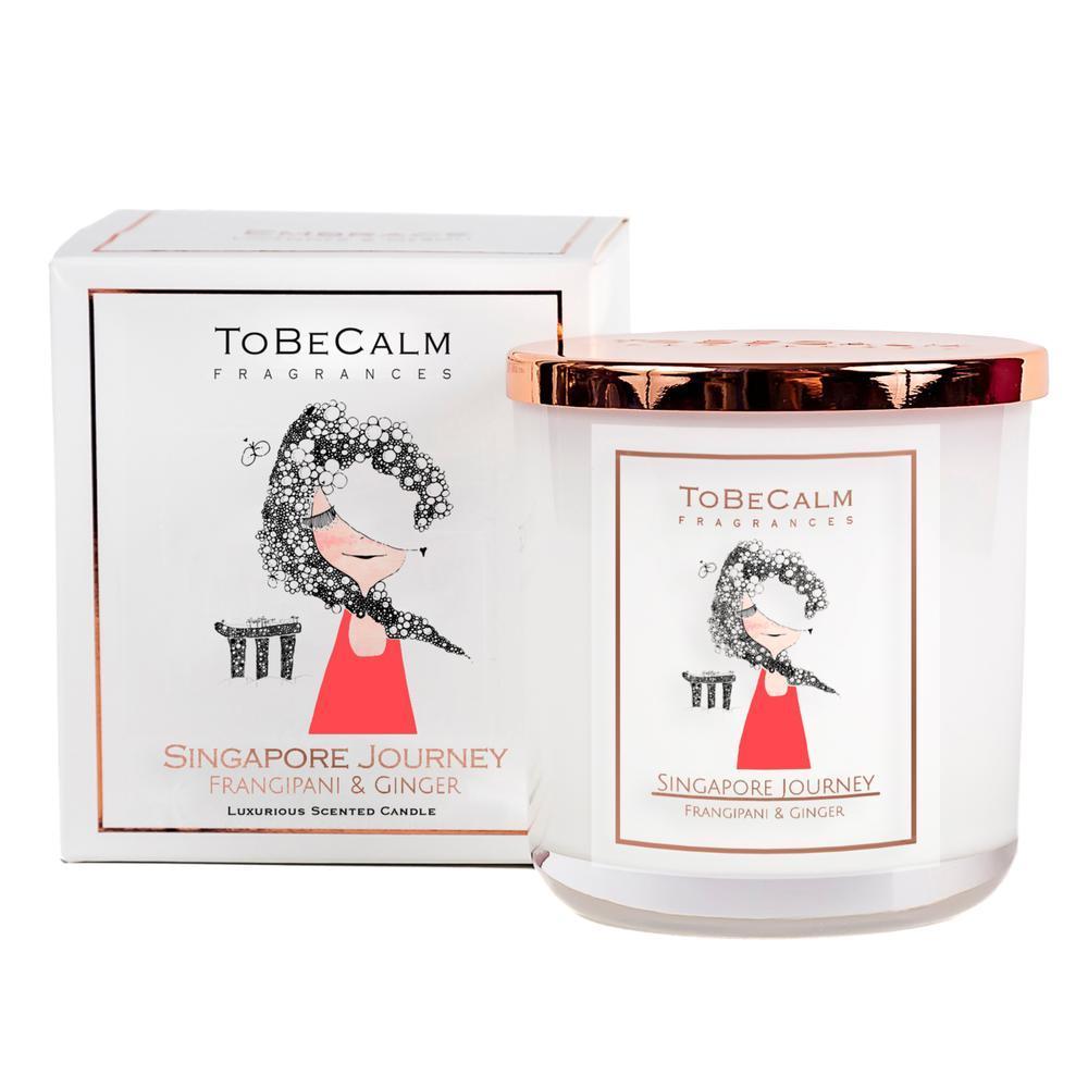 To Be Calm Singapore Journey - Frangipani & Ginger - Medium Soy Candle