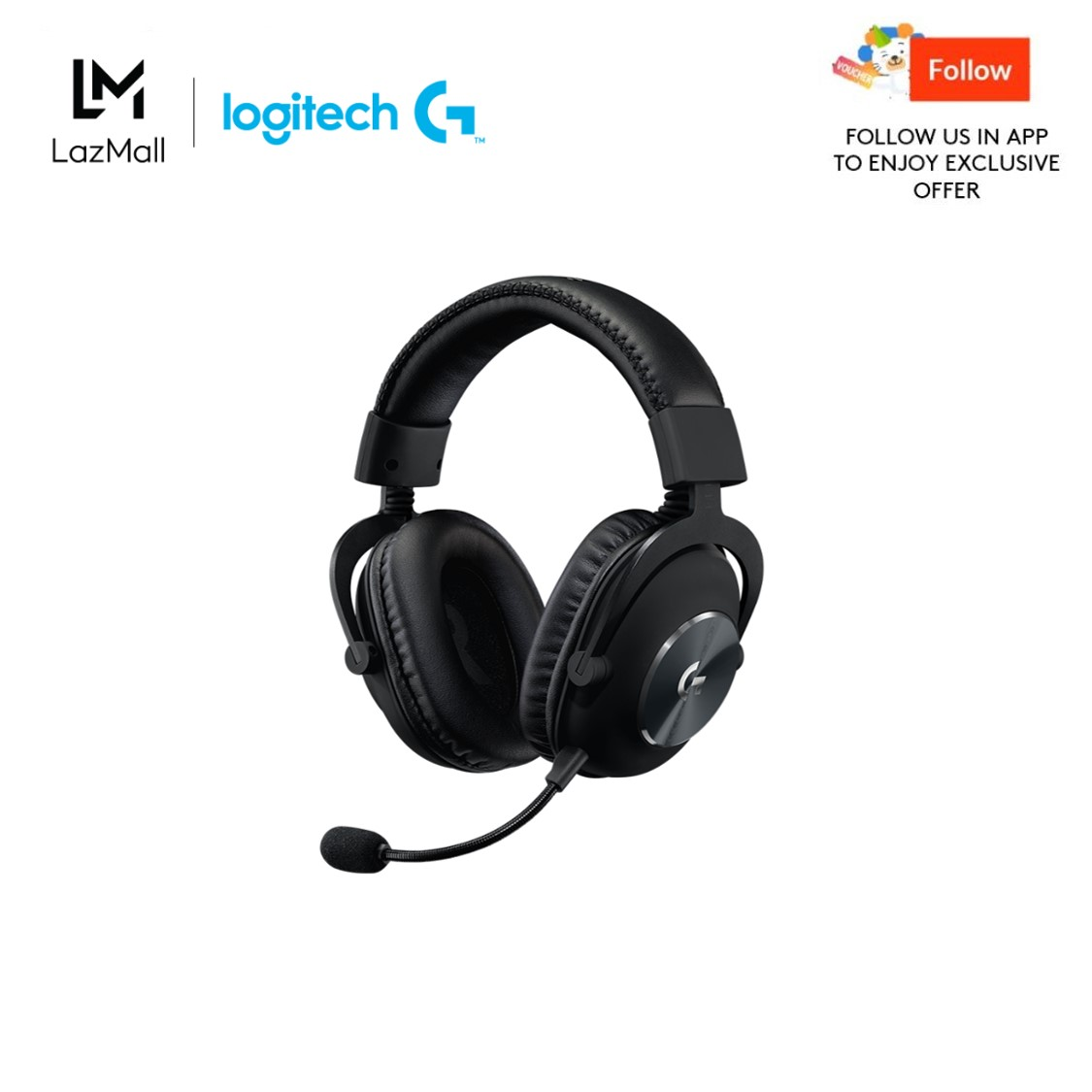 Logitech G Pro X Wired 2nd Gen Black Gaming Headset With Blue Vo!ce For Pc, Ps4, Switch, Xbox One And Vr.