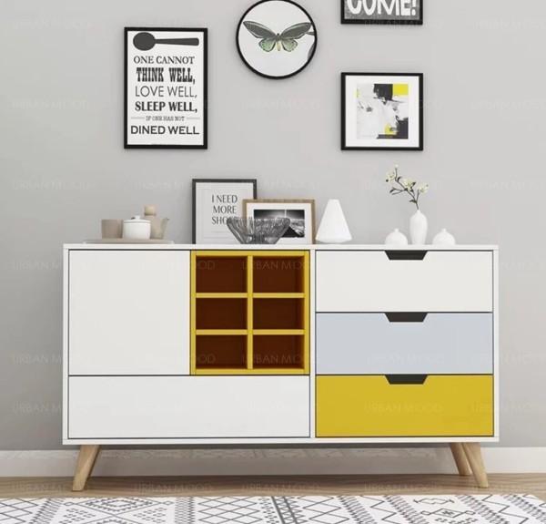 [PRE-ORDER] HANNAH Scandinavian Hallway Display Cabinet