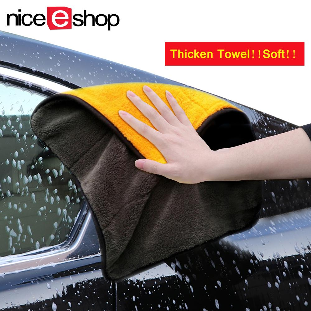 Niceeshop Car Cleaning,ultra Thick Plush Microfiber Car Cleaning Towels Buffing Cloths Super Absorbent Drying Auto Datailing Towel (random Color) By Nicee Shop.