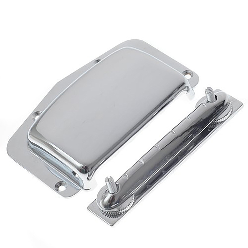 Adjustable Fixed Electric Guitar Bridge Cover for Teisco Harmony Kay & Imports (Chrome)