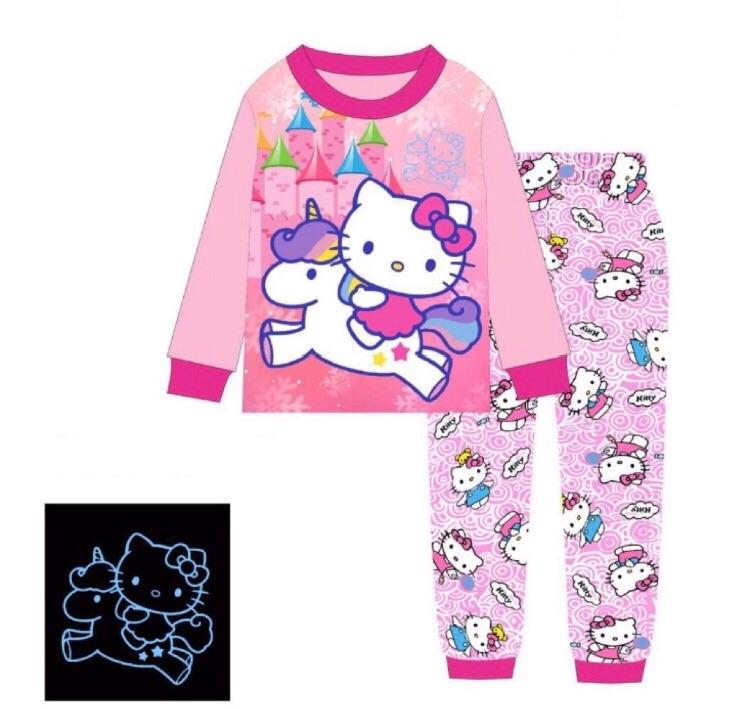 128ea7f38 [Eddalabz] Glow In The Dark Kids Pajamas - Hello Kitty - 2 to 7