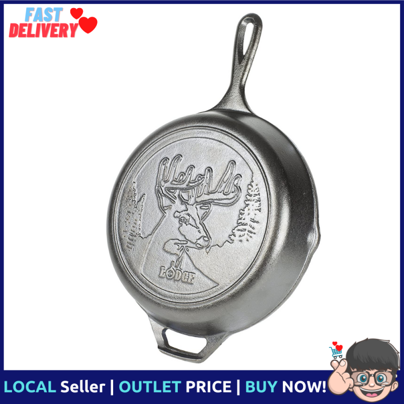 Lodge Cast 8-inch Black Cast Iron Skillet and Frying Pan l Good For Frying l Lodge USA Singapore