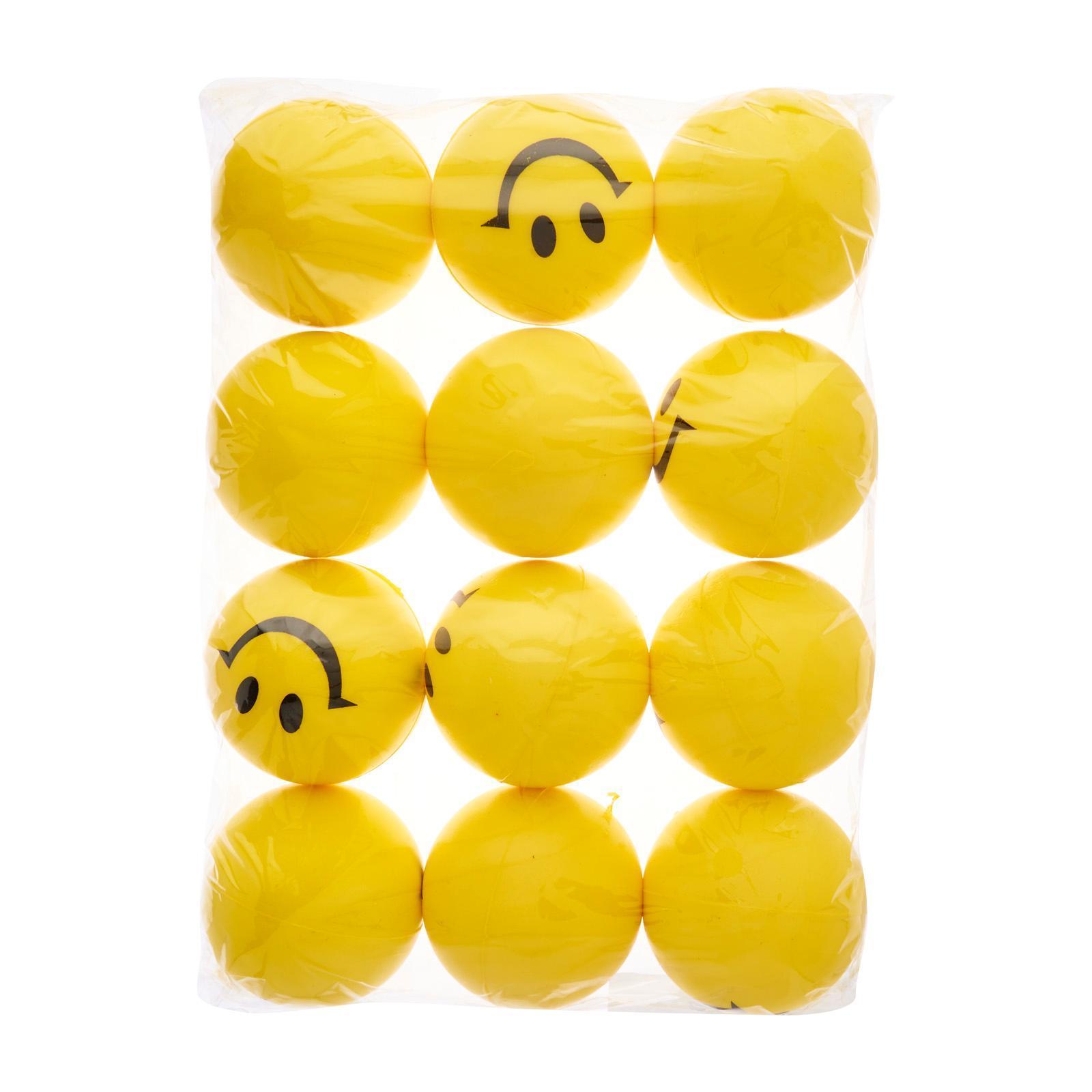 CGS 6Cm Smiley Stress Balls (Yellow) (12Pcs) - Party Favor