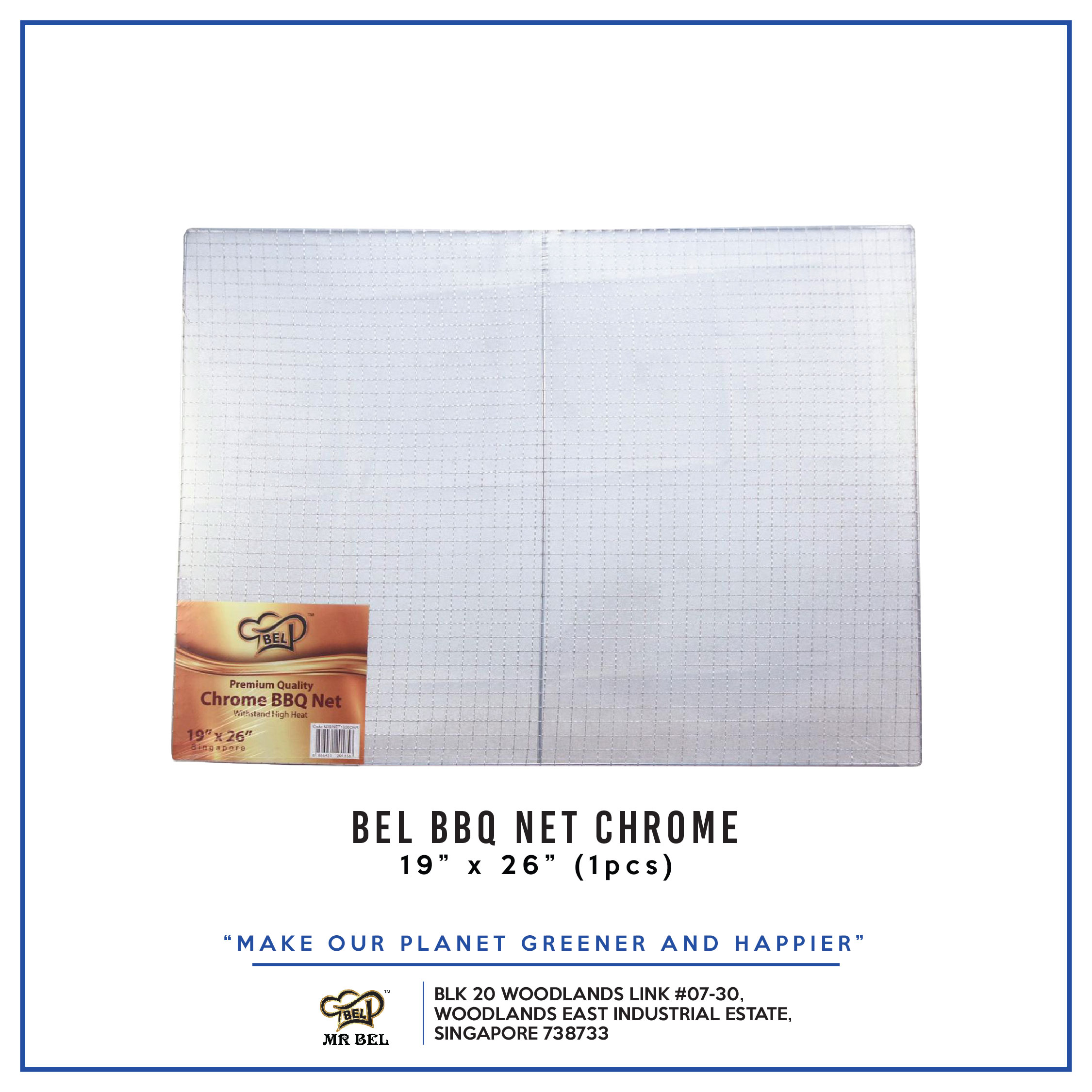 Bel BBQ NET 19  X 26  CHROME per pack - 1 Carton (20packs)
