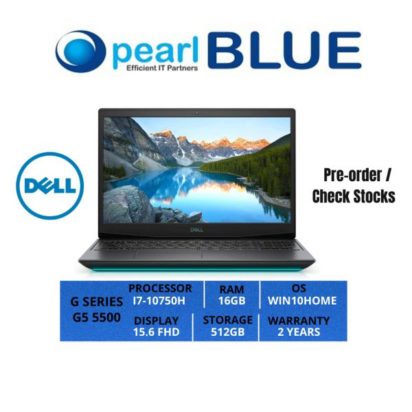 Dell G SERIES | G5 5500 | I7-10750H | 16GB | 512GB | 15.6 FHD | 2.34KGS | WIFI6 | WIN10HOME | 2 YEARS WARRANTY