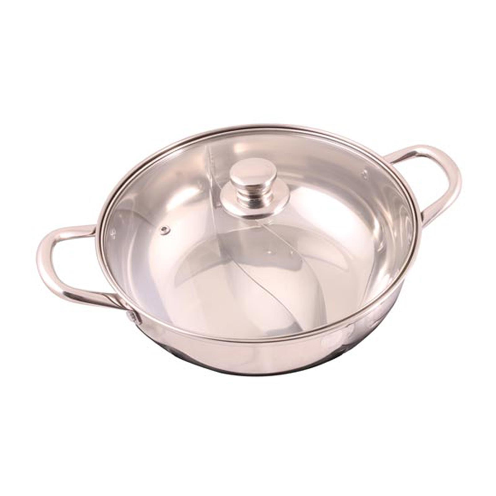 ToTT Divided Shabu Shabu Hot Pot With Glass Lid 28Cm - By ToTT