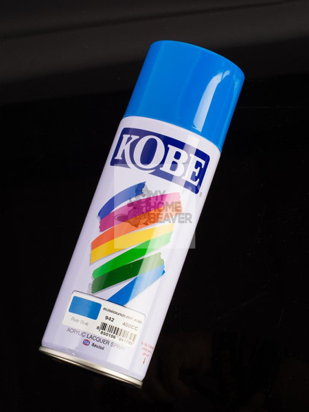 Kobe Good Adhesion Quick Dry Durable 400 ml Acrylic Lacquer Spray Paint [River Blue 942]