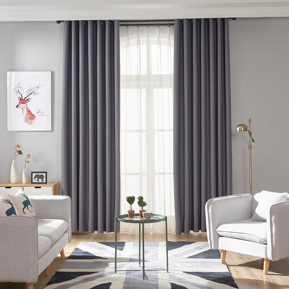 Simple Pure Color Home Blackout Curtain Study Bedroom Window Drapes Curtain (Size: Length X Height 100 X 200cm)only one pcs