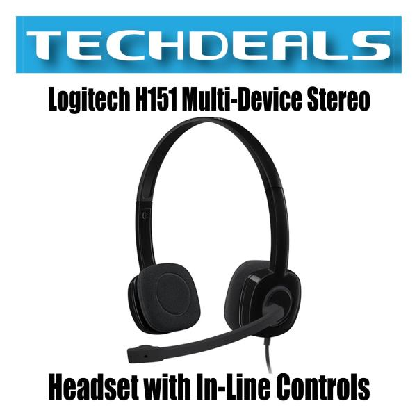 Logitech H151 Multi-Device Stereo Headset with In-Line Controls Singapore