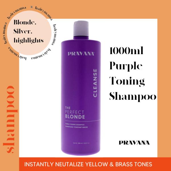 Buy Pravana The Perfect Blonde - Purple Toning Hair Shampoo 1000ml (Sulfate Free) (hairymama®) Singapore