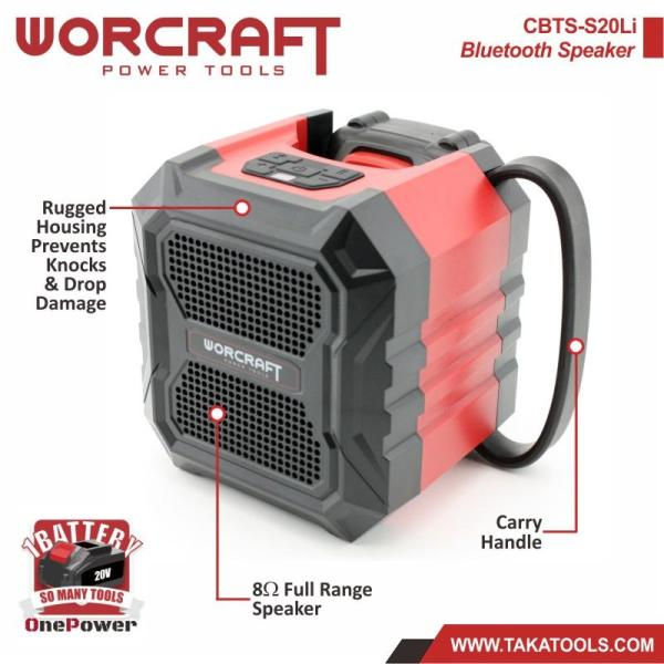 Worcraft OnePower Cordless Battery Bluetooth Speaker (Speaker Only, without battery and charger)