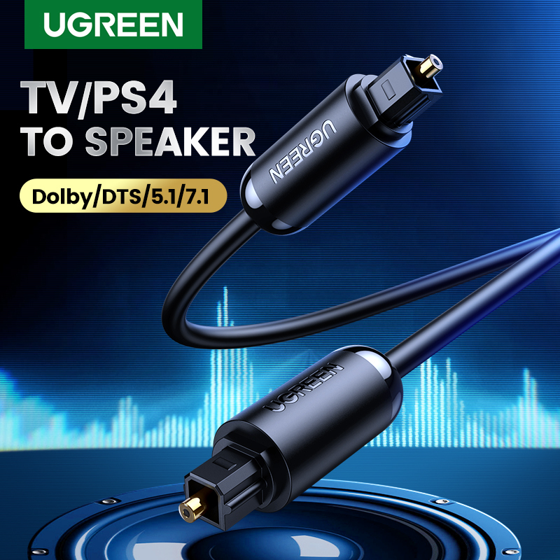 UGREEN Digital Optical Audio Cable Toslink SPDIF Coaxial Cable for Amplifiers Blu-ray Player Xbox 360 Soundbar Fiber Cable Singapore