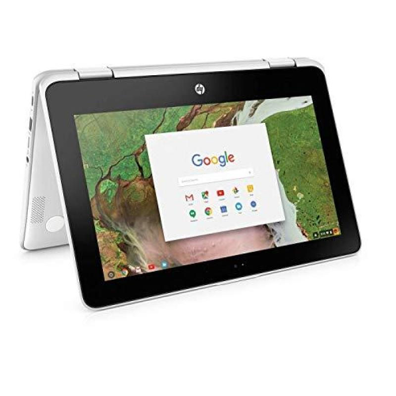"""2019 HP X360 Chromebook 11.6"""" Touchscreen Convertible 2-in-1 Laptop PC, Intel Celeron N3350 up to 2.4GHz Processor, 4GB, 32GB, WiFi, Webcam, Stereo Speakers , Bluetooth, USB 3.1, Chrome OS (Renewed)"""