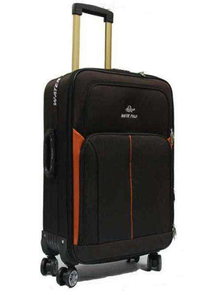 24 inch Medium Economical Double Caster Expandable Softside Fabric Suitcase