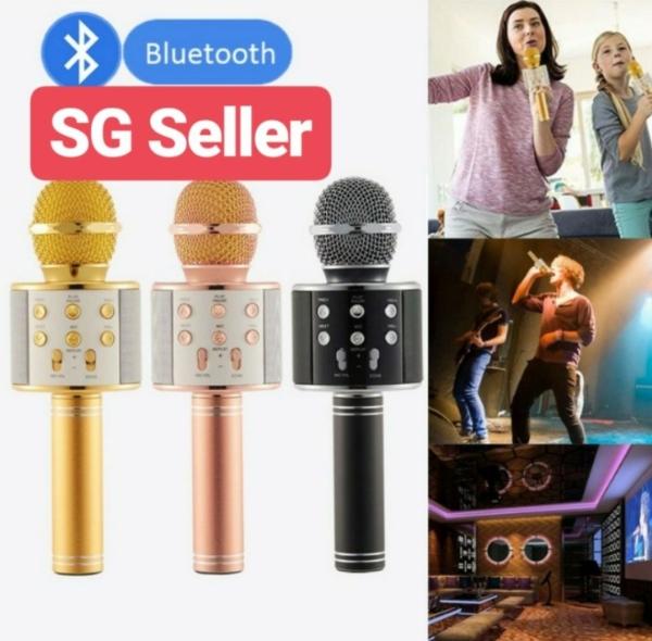 SG* WS 858 Bluetooth Wireless Condenser Karaoke Microphone Player Mic Speaker Singapore