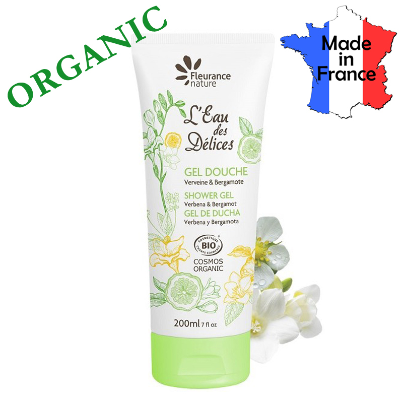 Buy Certified Organic Shower Gel Verbana Bergamot Made in France - by FLEURANCE Singapore