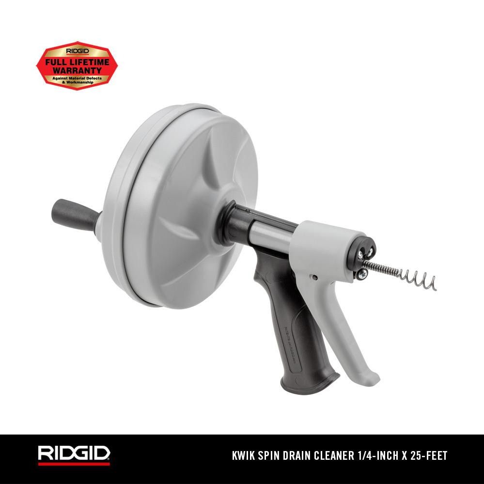 RIDGID KWIK-SPIN+ Hand Spinner Drain Cleaner with AUTOFEED®