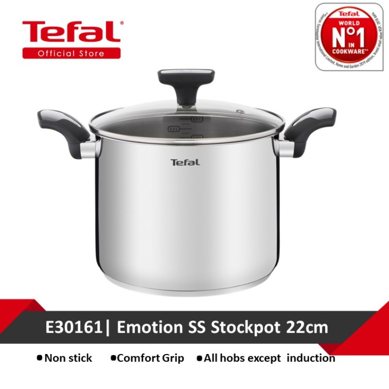 Tefal Emotion SS Stockpot 22cm E30161 Singapore