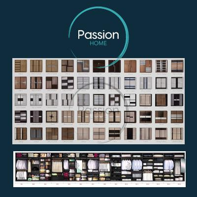 Solid Plywood Sliding Door Modular Wardrobe flexible customization sizes range 56inches 5ft 6ft 7ft 8ft 9ft 10ft 11ft 12ft