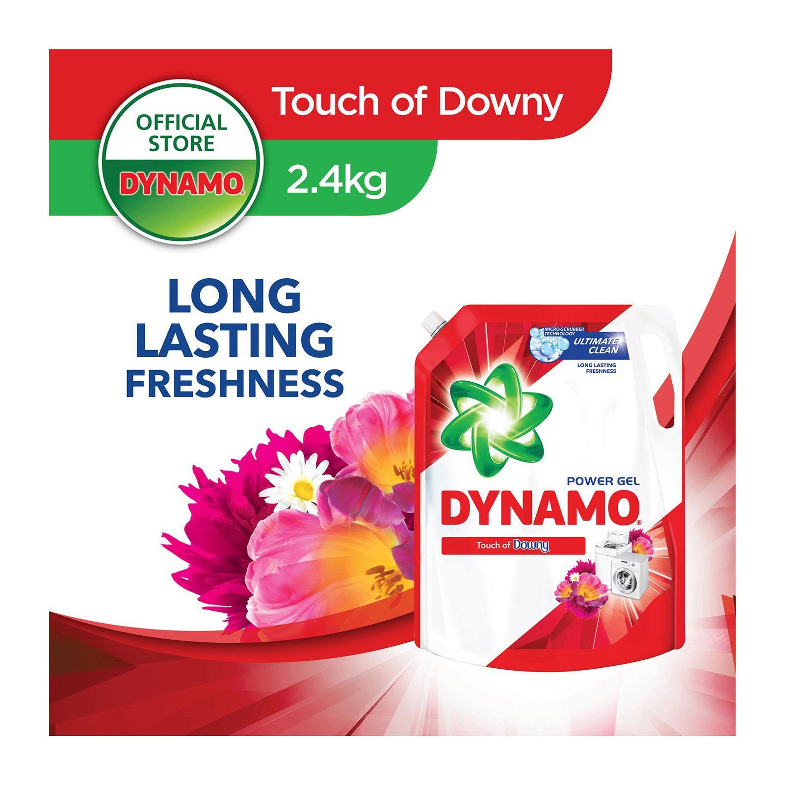 Dynamo Power Gel Freshness Of Downy Laundry Detergent Refill 2.4KG
