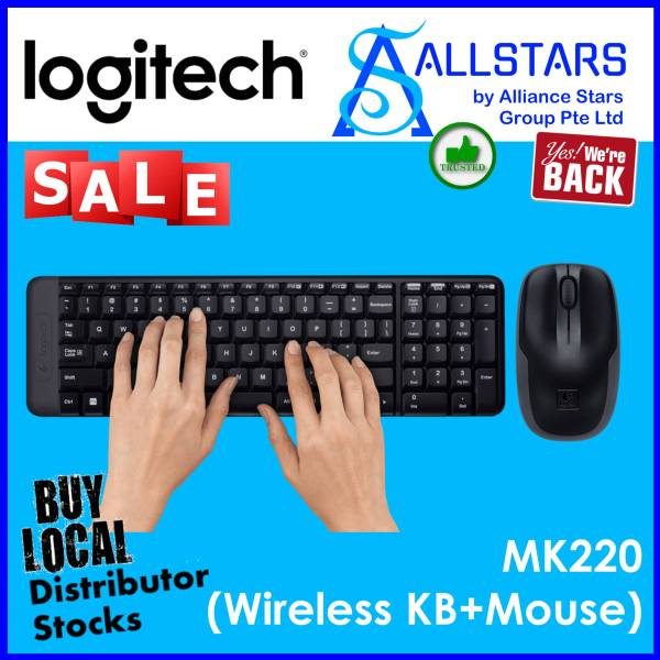 (ALLSTARS : We are Back / Keyboard & Mouse Promo) LOGITECH MK220 Wirelesss Combo (920-003235)-Warranty 3YRS W/BANLEONG Singapore