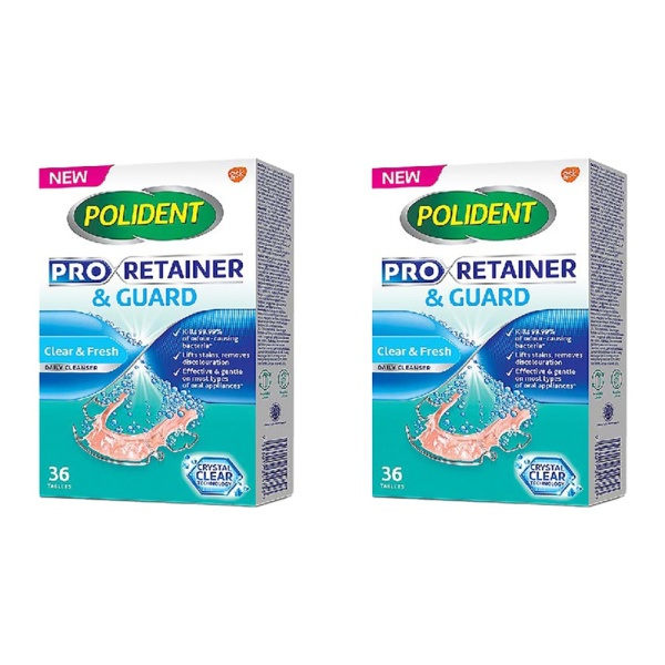 Buy POLIDENT Pro Retainer & Guard Cleanser 36s [2 pack] Singapore