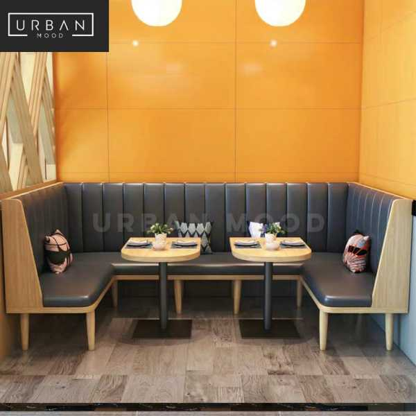 [Pre-Order] BOYSEN Modern Cafe Faux Leather Dining Bench