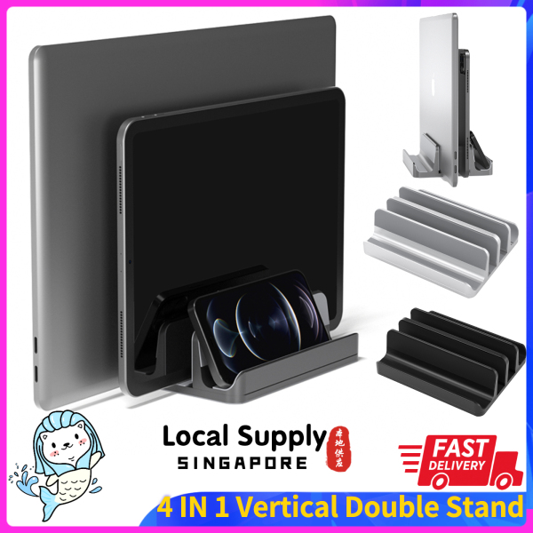 Upgraded Laptop Stand Vertical SYTECH, Laptop/ Tablets / Phone Holder Stand with Firm Base and Adjustable width.