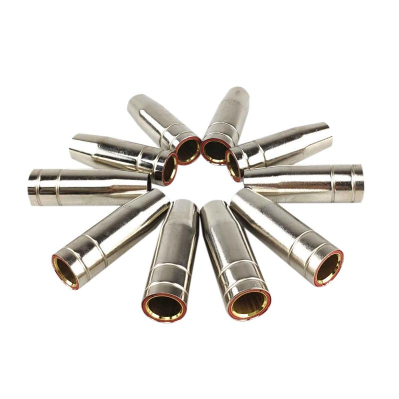 15Ak Gas Nozzle 10Pcs Mig Welding Torch Gas Nozzle Contact Tip For Mig Mag Welding