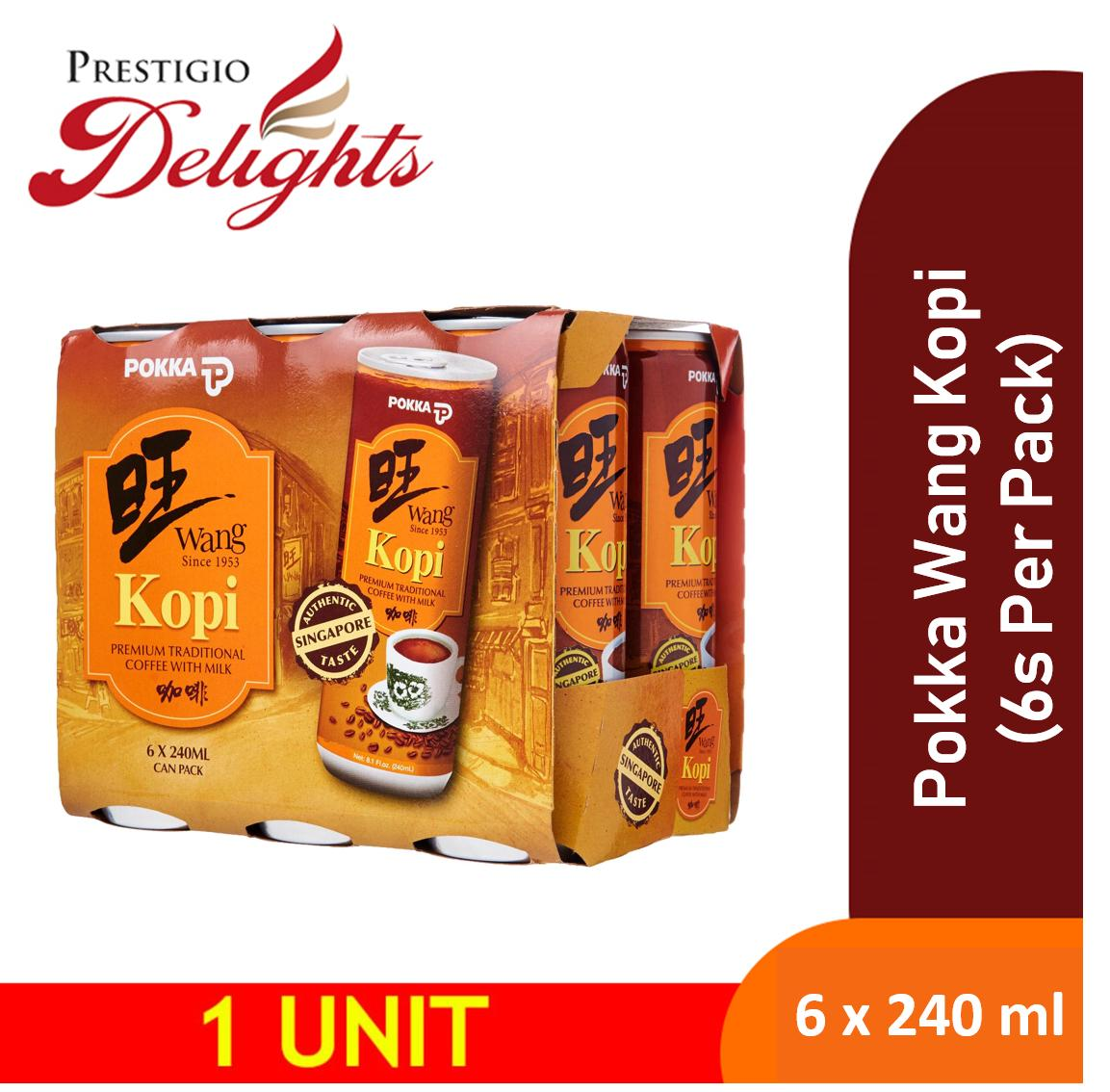 Pokka Wang Kopi 6 Cans X 240ml Drink Sale By Prestigio Delights.