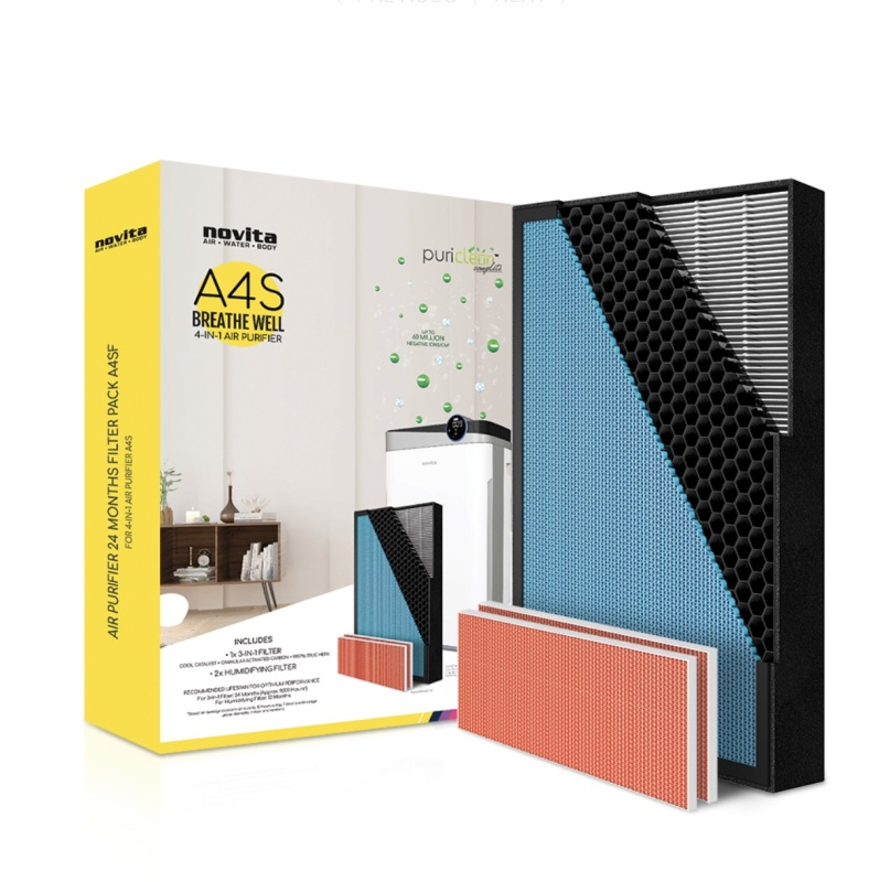 NOVITA AIR PURIFIER MODEL A4S 24 MONTHS REPLACEMENT FILTER PACK Singapore