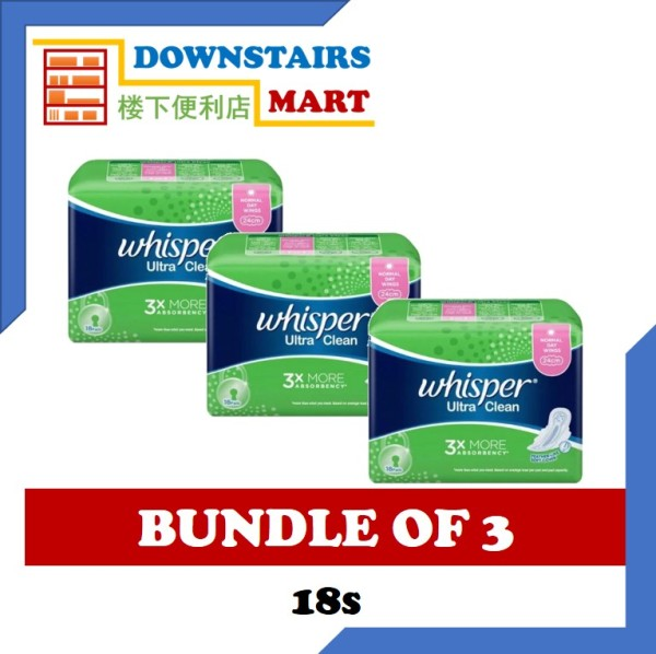Buy [Bundle of 3] Whisper Ultra Clean Wing 24cm 18s x 3 Singapore