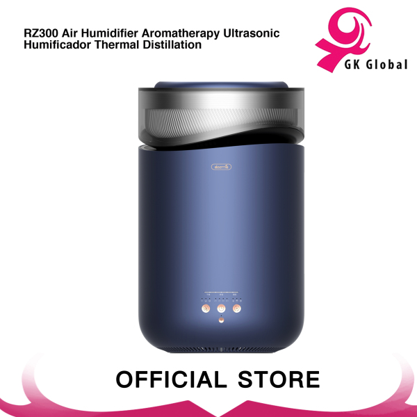 Deerma RZ300 Air Humidifier Aromatherapy Ultrasonic Humificador Thermal Distillation, Blue Singapore