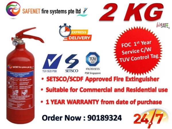 Setsco Approved 2kg Dry Powder Fire Extinguisher