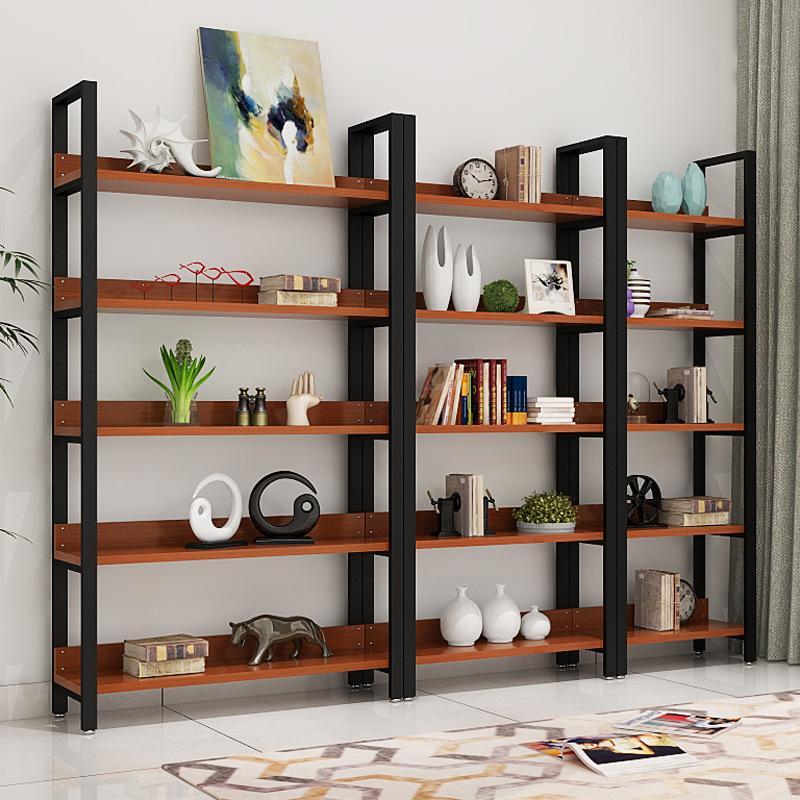 Brown Wooden 5 Tier Storage Shelves Rack - 100cm
