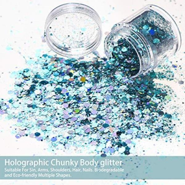 Buy Body Glitter, TEOYALL 16 Boxes Chunky Face Glitter Holographic Cosmetic Glitter for Nail Hair Temporary Tattoos Craft Festival Singapore