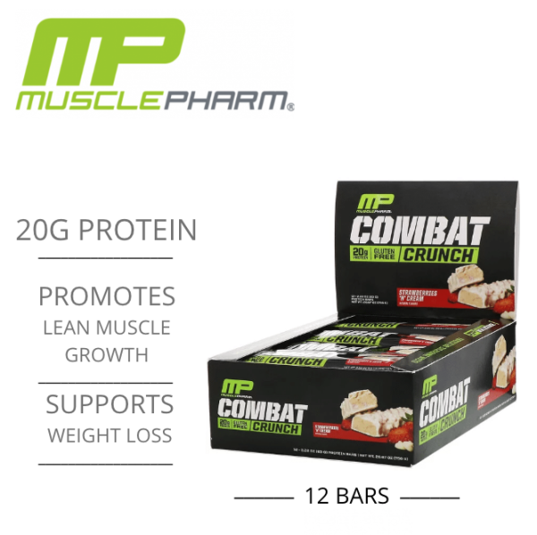 Buy [NEW] MusclePharm Combat Crunch All Flavours -#1 Tasting Gym Protein Bar Singapore