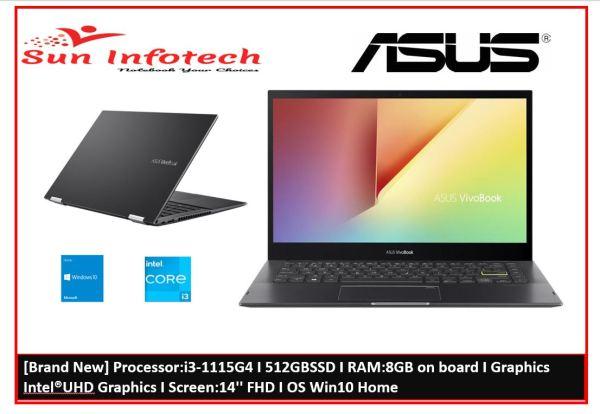 [Brand New] ASUS TP470EA-EC251 Processor i3-1115G4 I 512GBSSD I RAM:8GB on board I Graphics Intel®UHD Graphics I Screen:14 FHD I OS Win10 Home