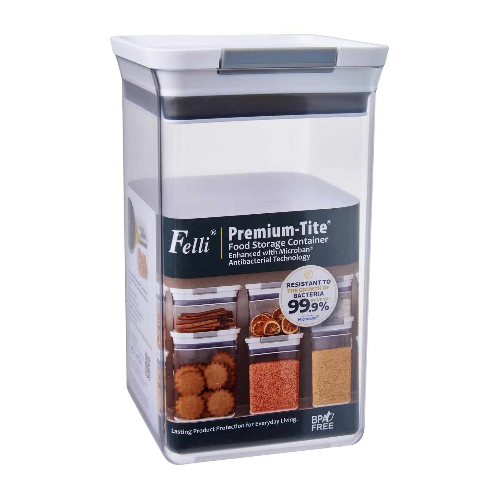 Felli Premium Tite Food Storage Container Enhanced with Microban Antibacterial Technology 2.4L