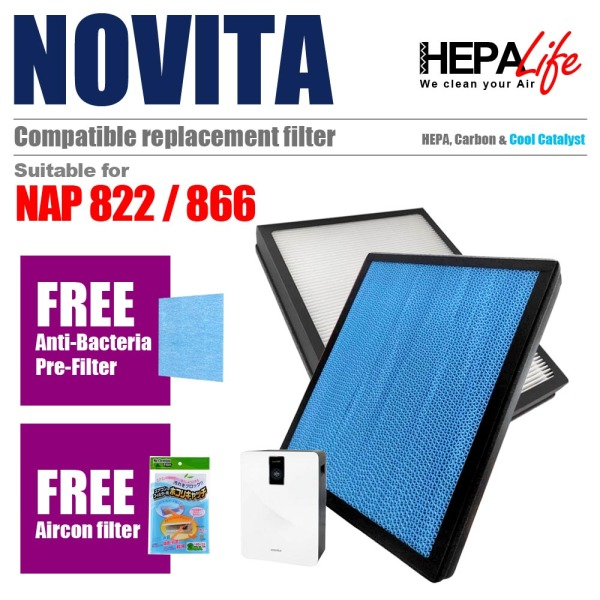 Novita NAP 822 NAP 866 NAP822 NAP866 Compatible Filter - Hepalife Singapore