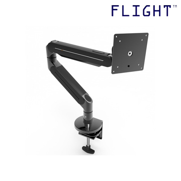 LCD Monitor Arm, Dynamic Spring Mechanism, Monitor Support with Double Arms Linked, Supports 0.5 to 8.5kg, 360 Degree Monitor Rotation, Cable Management Included, L7-202 - Flight