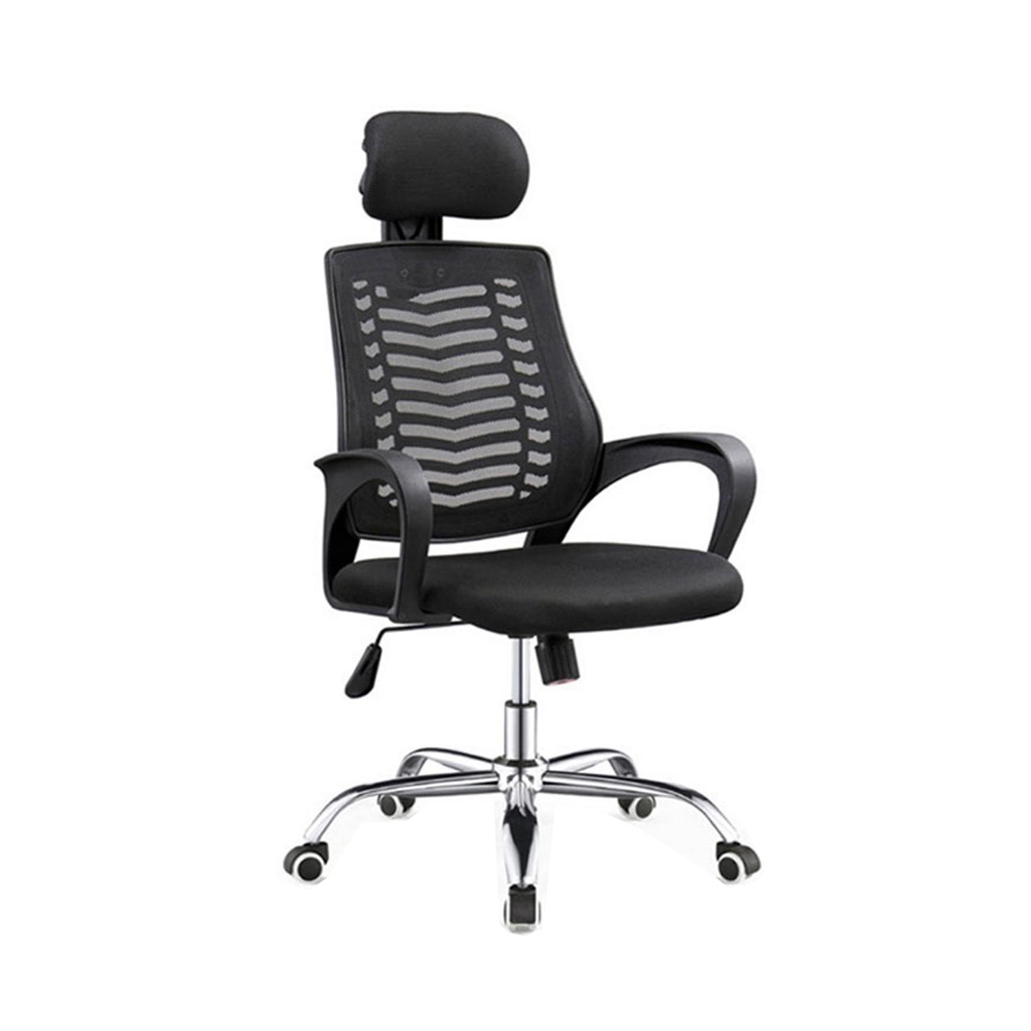 LIVING MALL_Hanna Office Chair in Black_High Back Office Chair_FREE DELIVERY